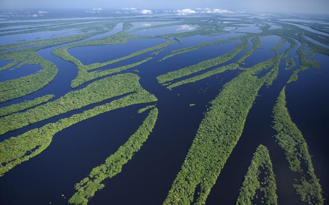 visão aérea do rio negro
