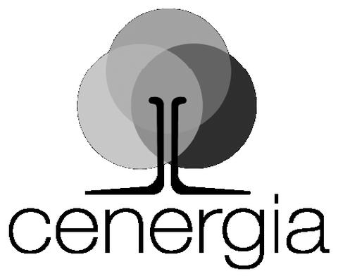 Logo do CENERGIA sobre fundo azul.