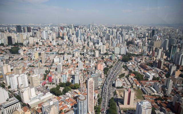 Vista aérea da cidade São Paulo