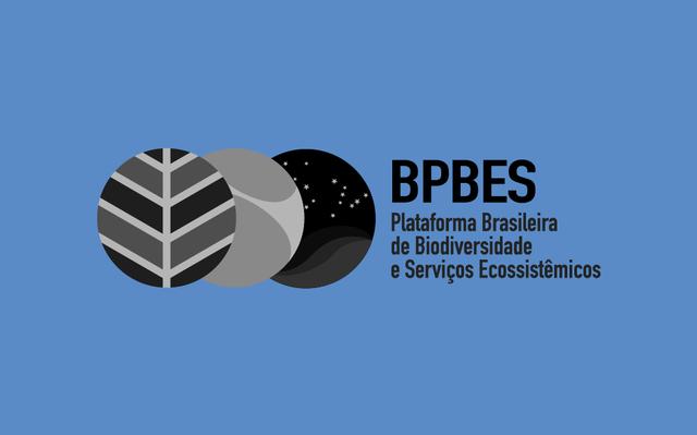 Logo do BPBES sobre fundo azul.