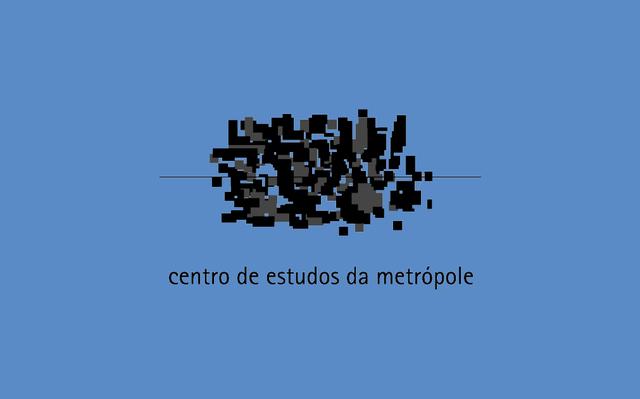 Logo do CEM sobre fundo azul.