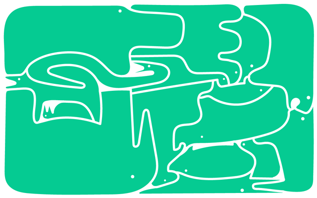ilustrações de animais sobre fundo verde
