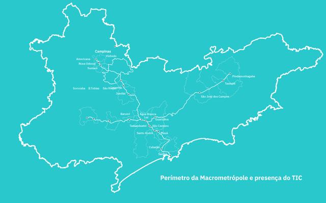 mapa de são paulo sobre fundo azul