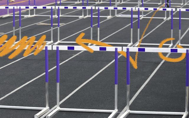 ilustração de barreiras de atletismo
