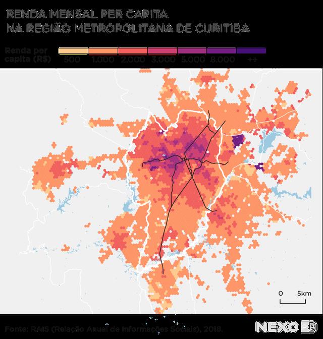 mapa curitiba